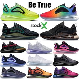 hot pink shoe laces Promo Codes - Neon collection 720 mens designer shoes hot lava Be true sunrise Triple white hyper crimson running shoes womens Black pink blast sneakers