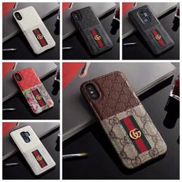 iphone 5c hüllen katzen Rabatt Luxuxtelefon-Kasten für iphone X XS XR Xs-Max 7 7plus 8 8plus Kartenhalter-lederne Abdeckung für S8 S9 plus S10 plusNote9 Entwerfer-Telefon-Kasten A11