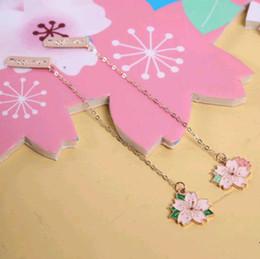 ciondoli per i segnalibri Sconti Novità Cherry Sakura Ciondolo Segnalibro Cancelleria Forniture per ufficio scolastiche in vendita