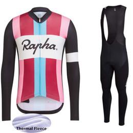 Hot Sale RAPHA winter long sleeve men classic cycling clothing thermal  fleece cycling Jersey bib pants suit mtb bicycle wear Y021603 12bb3c1f3