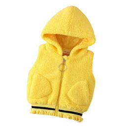 0-4 años ropa de bebé niña otoño invierno Sólido niño de dibujos animados niños ropa de la chaqueta prendas de vestir exteriores Chalecos de niña chaleco desde fabricantes