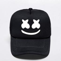 Новый 2019 Печати Marshmello Бейсболки Унисекс Взрослых Высокого Качества Спорт На Открытом Воздухе Шляпы Snapback Trucker Punk Стиль Мода Cap от