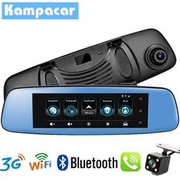 2019 espelho carro câmera gps Kampacar Auto Dash Cam Car DVR Com GPS Car Mirror Camera Navegação GPS FHD 1080 P Gravador de vídeo 3G WiFi Camera Para carros desconto espelho carro câmera gps