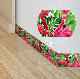 arredamento geometrico Sconti Bordi di carta da parati greca Flamingo Tropical Geometric Impermeabile autoadesivo linee di vita Wall Border Sticker for Kitchen Bathroom Decor