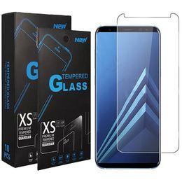 2019 iphone flim avant Verre Trempé Cristal Pour Samsung M10 M20 M30 M30 A10 A30 A40 A50 A70 Protections d'écran durs Galaxy J4 Core A5 A8 2018