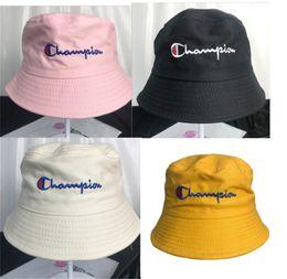 Japão mulheres bonés on-line-Chapéus do desenhador campeão balde chapéu letras de verão bordado pescador chapéus mulheres homens japonês à prova de sol chapéu macio flexível Casual B73001