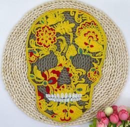 Abbigliamento spedizione gratuita maglione T-shirt accessori decorazione decorativa ricamo modello asciugamano ricamo grande patch patch patch cranio p da