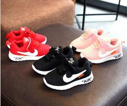 2019 láminas de caucho ¡El precio más bajo! Otoño 2019 Baby First Walkers, zapatos deportivos de malla para niños, niña niño zapatillas, tamaño 21-30