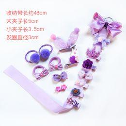 Anillos de bebé coreano online-Corea del bebé Kawaii pelo arcos del anillo SET princesa niñas pinzas para el cabello Hairbands Baby Girls Duck Clips Barrette cinta regalos regalos de Navidad KH2