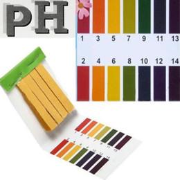 ph kit de tiras reactivas litmus Rebajas Venta caliente Nueva llegada Nuevas 80 tiras de rango completo pH Ácido alcalino 1-14 Papel de prueba Kit de prueba de tornasol de agua A78Z