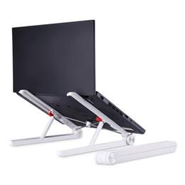 einstellbarer laptophalter Rabatt Verstellbarer Laptophalter Tragbarer faltbarer Desktop-Ständer mit ergonomischem Design 10 Zoll-17,3-Zoll-Laptopauto