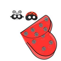 2019 traje de urso tamanho completo Best Selling Borboleta Asa Máscara Manto Headband Evento Partido Crianças Trajes Holloween Estágio Desgaste Jogos de Mascote Crianças Moda Tendências