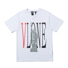 Chemises décontractées pour hommes de qualité en Ligne-Vlone Mens Designer T-shirt New Arrival Homme Femme de haute qualité à manches courtes Casual Hommes Hip Hop T 2 couleurs