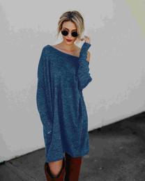 vestido corto de cuero sexy más tamaño Rebajas Ocio de punto de las mujeres de moda cuello de la manga de la cabeza de la mujer suéteres estilo simplicidad tipo flojo diseñador inferior suéter ropa de mujer