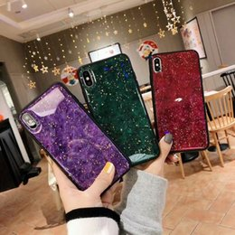 6s iphone casos femininos on-line-Para iphone xs max case girly luxo folha de ouro bling marble tampa protetora para iphone 6 6 s 7 + 8 plus x xr
