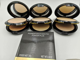 Livraison gratuite nouvelle marque maquillage mat visage poudre plus haute qualité Double-pont foudation studio fix poudre plus 3 couleur peut choisir ? partir de fabricateur