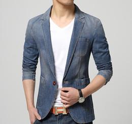 Vestiti unici adatti online-Mens giacca lavata di design di lusso denim giacca slim fit casuale più taglia unica cappotto giacca di jeans Plus Size 2XL