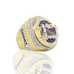 Fiestas de baloncesto online-Curry Champion Rings NO.30 Deportes 2018 Jugadores de Baloncesto Anillo de Competencia Circón Joyería Regalos Fiesta Al Por Mayor