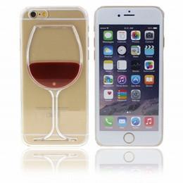 2019 capa dura do vinho Vinho de vidro de cerveja transparente protetora case para iphone 5s se 6 6 s 7 8 plus x xres xs max líquido rígido tampa traseira acessórios do telefone desconto capa dura do vinho