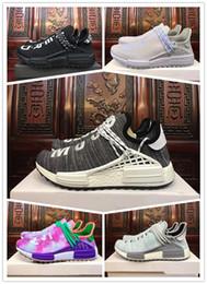 zapatos de puesta a tierra Rebajas Nueva barata nueva Tierra BBC Holi Cream zapatos para correr trail Hombres Mujeres Pharrell Williams HU Runner Glow deportes Trainer zapatillas 36-45