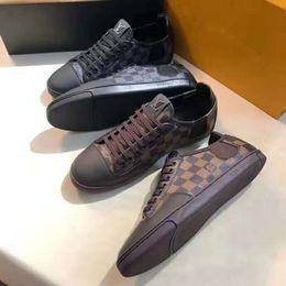 Canada Ventes chaudes marque haut de gamme hommes chaussures plates low-top lacets en cuir véritable haute qualité designer de luxe hommes casual chaussures boîte d'origine supplier high end shoes brands Offre