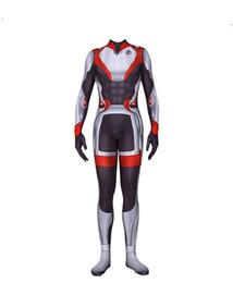 2019 spandex zentai superman Avengers 4 Slim Onesies Marvel Película que rodea el mismo complejo de ropa 4 Quantum Warfare Onesies Edición conmemorativa Traje siamés