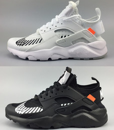 huaraches sneakers women Promo Codes - 2019 New Running Shoes for mens Huaraches Ultra 4 Men Women Black White Sport Shoes Oregon AC.2017 Zapatillas Huarache Sneakers size 36-45