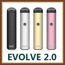 Canada 2019 100% authentiques Kits de cigarettes Yocan Evolve 2.0 E avec 3 cosses 650mAh préchauffant le vaporisateur de stylo vape de batterie VV pour la cire épaisse de pétrole Ejuice Offre