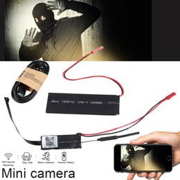 2019 hd cámara poros de cable cámaras ocultas red WiFi cámara de seguridad de la vigilancia del CCTV del video IP esconden sistema de acción del agujero de alfiler del monitor de 90 grados de la lente Ángulo de visión