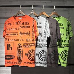 Placer de pareja online-Placeres Logotipo Completo Impreso T shirts Hombres Mujeres Parejas Camisetas de Hip Hop Camiseta Club de Algodón de Manga Corta Verano Casual Hombres Sueltos Camisa CLI0508