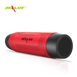 Фонарик s1 онлайн-S1 портативный беспроводной Bluetooth колонки с аварийной открытый фонарик Powerbank более 20 часов игрового времени Zealot Дизайн 10 шт.