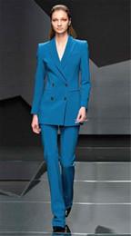 frauen hose arbeit anzug Rabatt Neue Blau Frauen Anzug Business Hose Anzüge Frauen Sommer Anzüge Weibliche Formale Arbeitskleidung 2 Stück Weibliche Hose