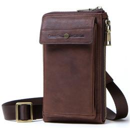 новые стили мобильных телефонов Скидка Crazy Horse Leather Man Мобильный телефон Пакет Подлинная одно плечо Span дизайнерские сумки сумка Crossbody сумки Новый дизайн корейский стиль