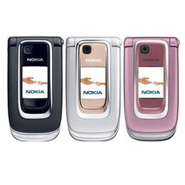 Дешевый mp3 разблокированный сотовый телефон онлайн-Оригинал Восстановленное Разблокирована Nokia 6131 Дешевые GSM Сотовый телефон Русская Английская клавиатура Bluetooth MP3 Флип Сотовый телефон