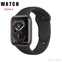 Relojes pedómetros online-Ver 4IWO 8 44mm Bluetooth Smart Watch Series 4 1to1 SmartWatch Estuche para iOS Android Frecuencia cardíaca ECG Podómetro Actualización de IWO 5 6 7