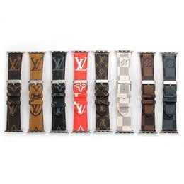 Pulseras de marca china online-reloj de diseño de banda de 44 mm 42 mm 40 mm 38 mm marca Smart correas de cuero de lujo correas de reloj pulsera de la banda de muñeca inteligente