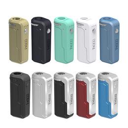 batterie in scatola Sconti Authentic Yocan UNI Box Mod 650mAh Preriscaldare VV batteria a tensione variabile con adattatore magnetico 510 per cartucce olio spesse DHL