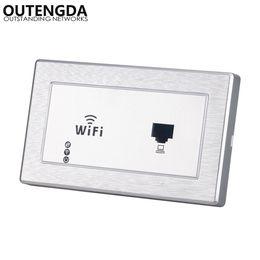 2019 alternar aux 120 tipo padrão DOS EUA 120 * 70mm em ponto de acesso sem fio de parede para o hotel samrt casa wi-fi router com RJ45