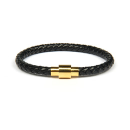 Herrenschmuck leder silber armband online-Luxuxdesigner-Goldsilber-Armband-Uhr-Großhandelsqualitäts-einfaches echtes Leder-Armband des Qualitäts-10pcs / lot mit den Schmucksachen der Sainless Stahlmänner