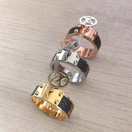 Selos do anel de ouro on-line-Nova Marca V Selo Amantes Anéis 18 K Rose Gold e prata Aço Inoxidável 316L para mulheres banda Amor Anéis Jóias Frete Grátis