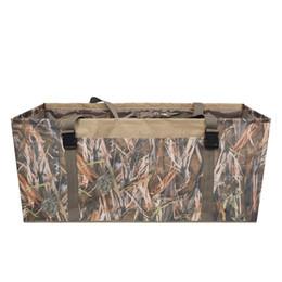 Bandolera acolchada online-12 Slot Duck Decoy Bag con correa de hombro ajustable acolchada Slotted Decoy portadores para Duck Goose Turkey Hunting Bag