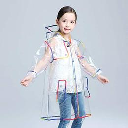 Impermeável chuva casacos meninos on-line-Transparente Capa de Chuva para crianças Meninos capa de chuva Casaco de Chuva Com Capuz Ao Ar Livre Claro Impermeável Crianças Meninas Da Criança Da Criança capa de Chuva Impermeáveis