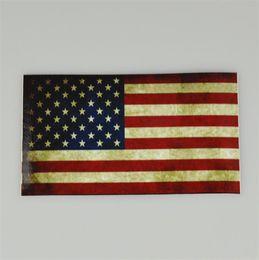 2019 виниловый виниловый винил Новейшая тонкая синяя линия флага наклейка - 6,5 * 11,5 см стикер американского флага для легковых и грузовых автомобилей - наклейки на окна стены декоративные