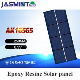 Panel solar policristalino 6v online-165 * 65mm 6V 250mA Polycrystalline Panel Solar Poly Cargador de Batería Para DIY Solar fan hat juguetes solares coche