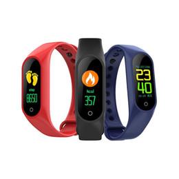 Paquetes de seguimiento online-M3 Pulsera inteligente Rastreador de ejercicios Reloj inteligente con ritmo cardíaco Pulsera impermeable Podómetro Pulsera para IOS y Android Paquete minorista