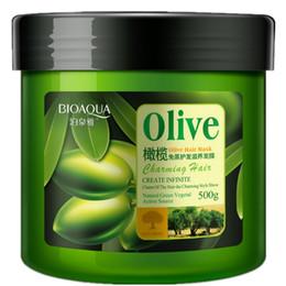 Cheveux secs à l'huile en Ligne-500ml d'huile d'olive sans besoin de réparation de masque capillaire à la vapeur frisottée souple aux extrémités fendues, conditionneur sec, traitement de cheveux, kératine pour le soin des cheveux.