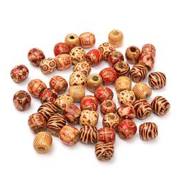 tubos de extensión de cabello anillos Rebajas 50Pcs Dreadlock Beads Dreads Wood Wood Hair Bead Anillo trenzado Tubo Clips de puño para trenzas Peinado Extensiones de cabello Accesorios