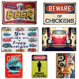 vintage oil signs Promo Codes - Motor Oil Plaque Vintage Metal Tin Signs Garage Gas Station Decorative Tyre Service Retro Wall Art Poster 20x30cm Free Shipping