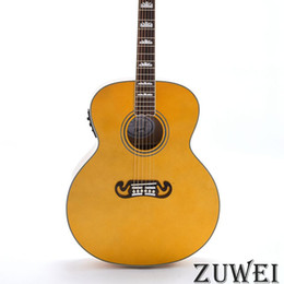 2019 12 string solid body e-gitarre Starshine 6 Saiten LYL0235YY Elektrische Akustikgitarre Fishman EQ Massive Fichtendecke Grover Tuner Bone Nut