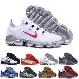 tecido cristão Desconto nike Vapormax air max airmax 2019 Run Utility mulheres dos homens tênis de corrida 13 novas cores branco preto refletem prata designers tênis esportes tênis tamanho 36-45